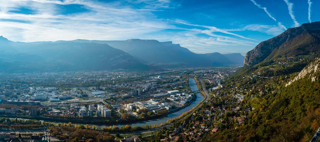 Vue sur Grenoble, le quartier championnet est très recherché à la location